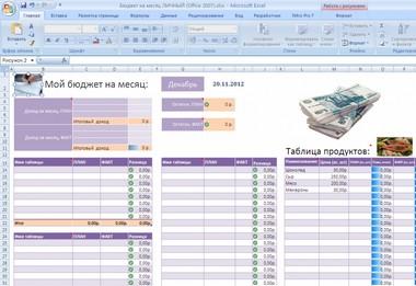 Пример ведения домашней бухгалтерии в excel регистрация ооо госпошлина квитанция