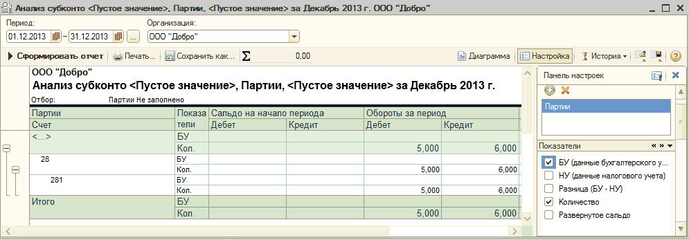 Где в 1с бухгалтерия 7.7 настройка партионный учет установка 1с 8.3 инструкция на linux
