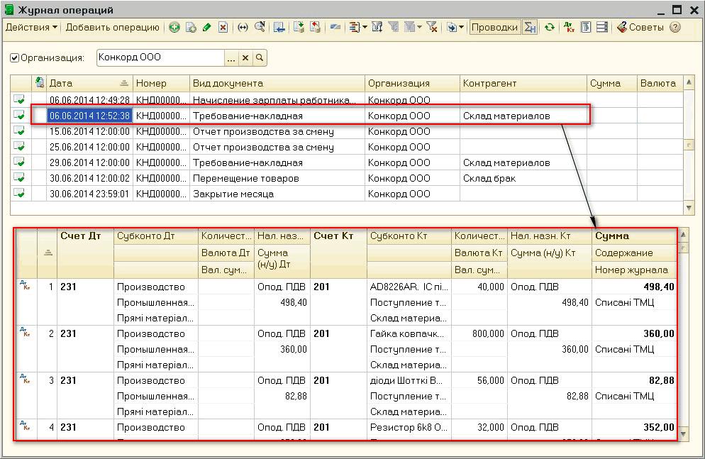 Операции-проводки 1с 8 Шпаргалка